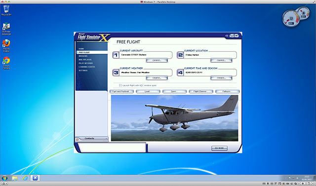 Running FSX in a Parallels Virtual Machine on OS X