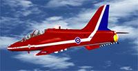 Red Arrows Goshawk being flown in FSX.