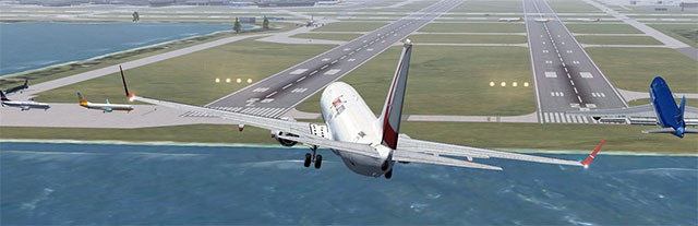 Screenshot from Flight Simulator X.