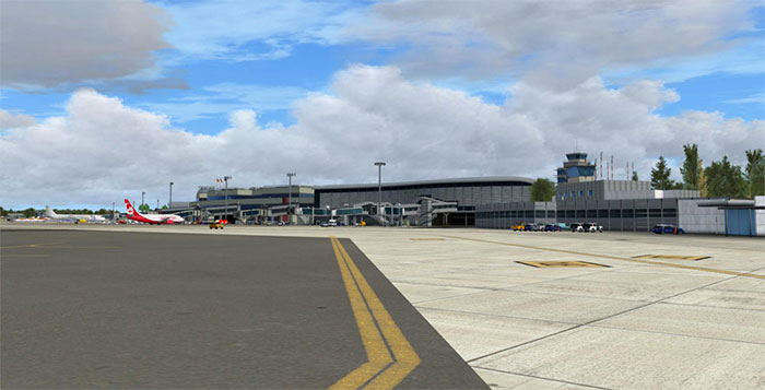 Gates and taxiway