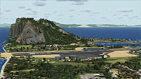 "The ""Rock"" and airport at Gibraltar in FSX."