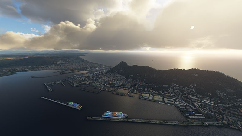 Gibraltar in the new sim.