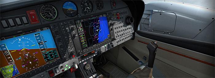 Glass cockpit and yoke
