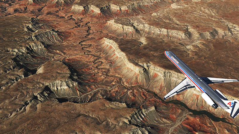 Grand Canyon orthophoto scenery in XP11.