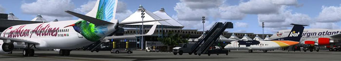 Grantley Adams airport scenery in FSX