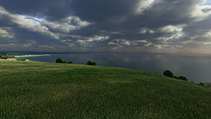 Procedurally generated grass in Normandy, France.