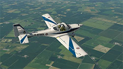 Grob Tutor in flight.