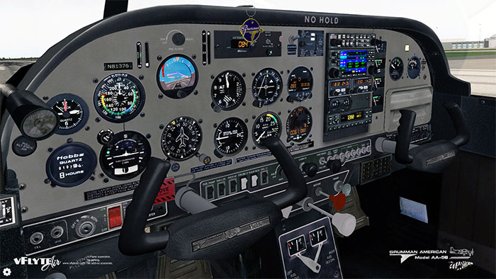 Highly detailed 3D virtual cockpit in X-Plane 10.