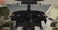 Gulfstream cockpit update.