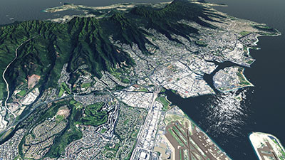 Screenshot of the Big Island showing after installing the scenery in XP11.