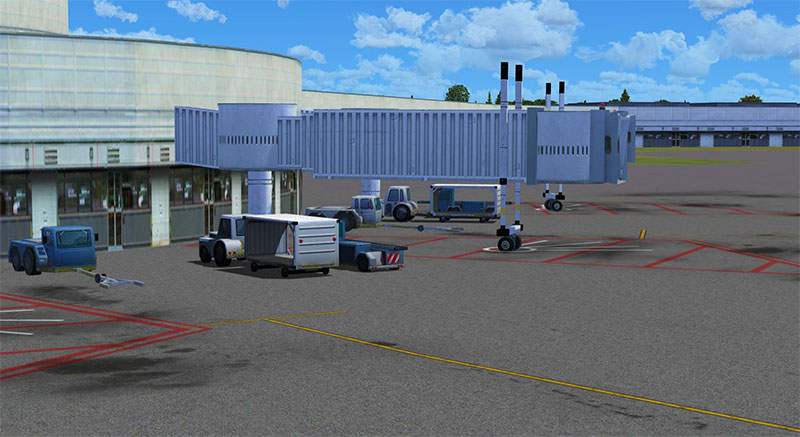HD Airport ramps and jetways add-on.