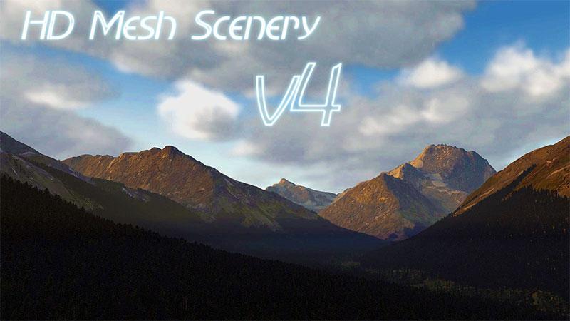 HD Mesh Scenery v4 logo
