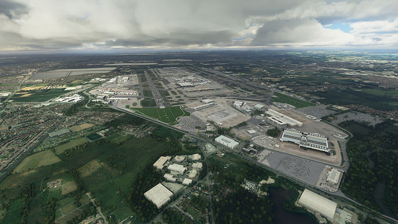 London Heathrow (EGLL) depicted in the sim.