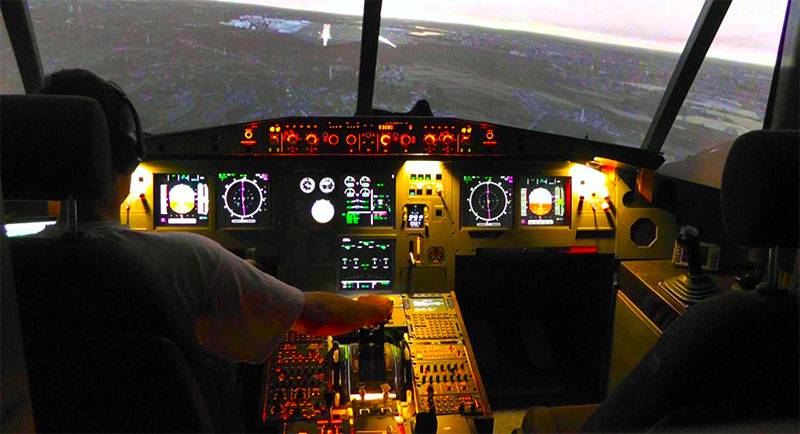 Example of a professional level home cockpit.