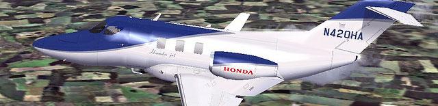 Mitsuya Hamaguchi's HondaJet in flight