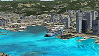 Boats and traffic in Honolulu
