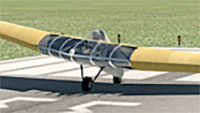 Horten Ho III stationary on runway.