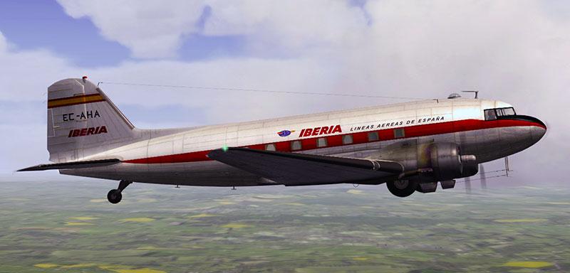 1963 Iberia DC-3/C-47 in P3Dv4.