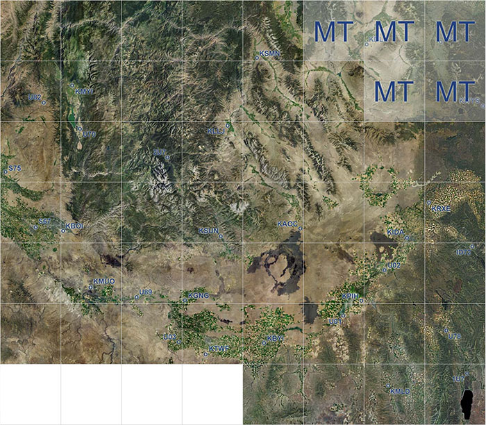 Idaho photoreal scenery coverage map.
