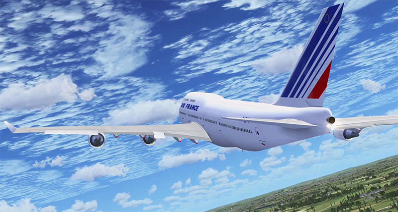 iFly 747-400 Air France Livery