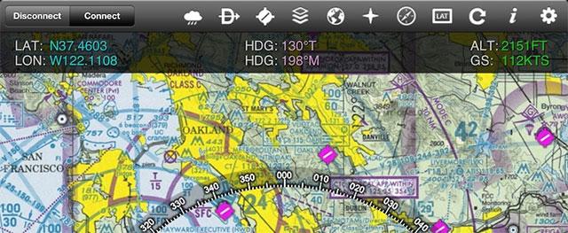 Screenshot of iGMap on the iPad.