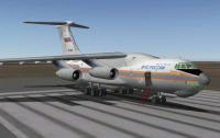 Russian Il-76 aircraft in X-Plane version 9.