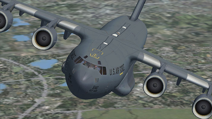 USAF Globemaster III in flight.