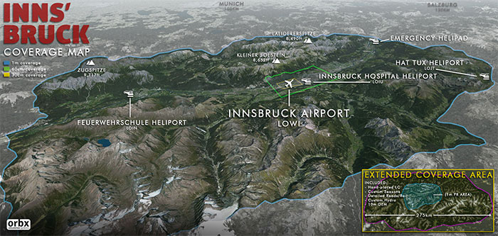 Innsbruck scenery coverage area map
