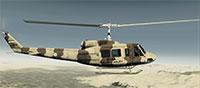 Iran Army Bell 214 in flight.