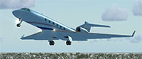 Gulfstream G550 in flight.