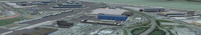 Flying over JFK airport in New York