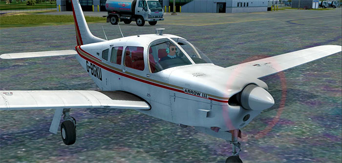 Just Flight's PA28 on ramp.