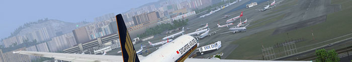 An approach at Kai Tak