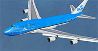 KLM 747 in flight.