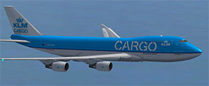 KLM Cargo 747 in flight