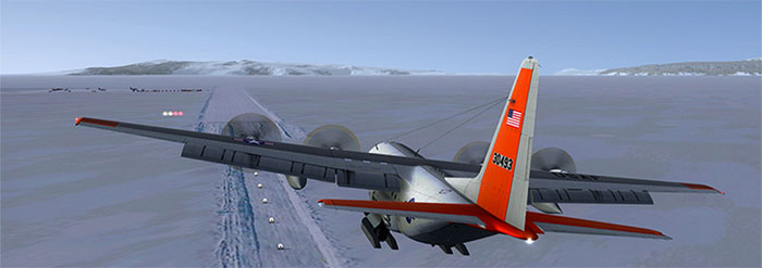 Landing in the Antarctic