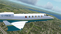 Learjet 60 in flight.