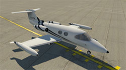 Learjet 23 on ramp in XP11.
