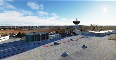 Showing the LECU scenery mod in Microsoft Flight Simulator (2020)