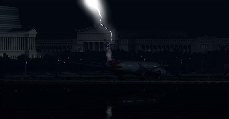 Lightning tail strike.
