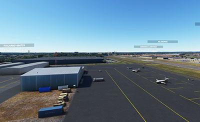 Linden (KLDJ) scenery displayed in MSFS 2020.