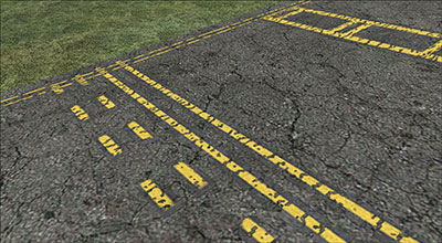 A demonstration of the taxiway lines and ground textures in FSX: Steam Edition.