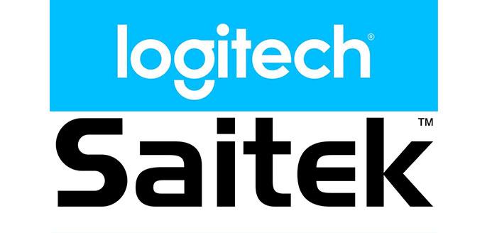 Logitech and Saitek company logos