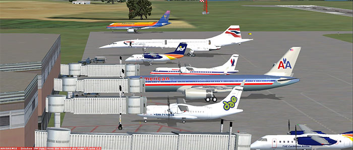 Lots of AI traffic in FSX