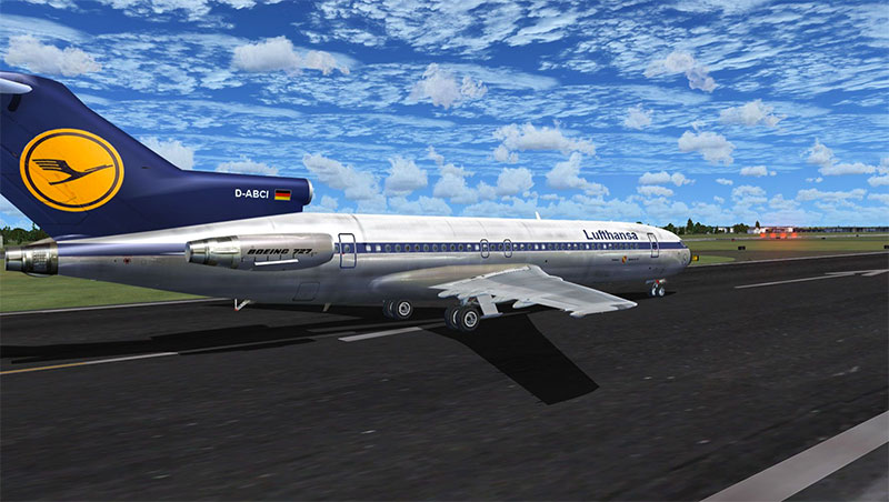 Lufthansa 727.