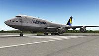 Lufthansa 747 in X-Plane 10