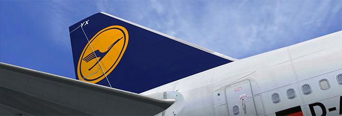 Lufthansa 747 tailplane