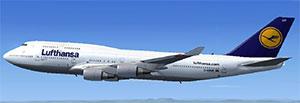 Lufthansa 747 in flight