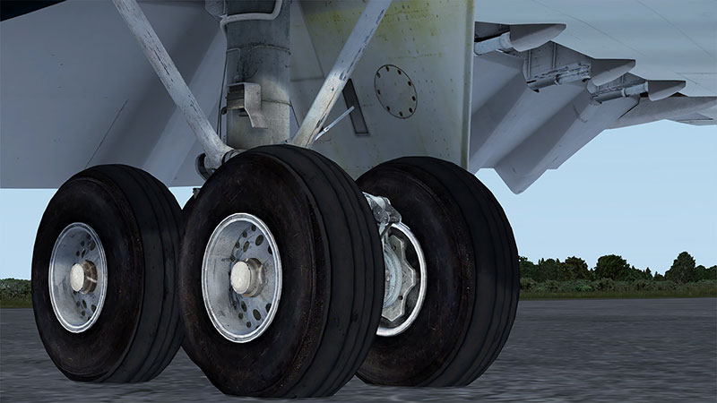 Main landing gear on the VC10