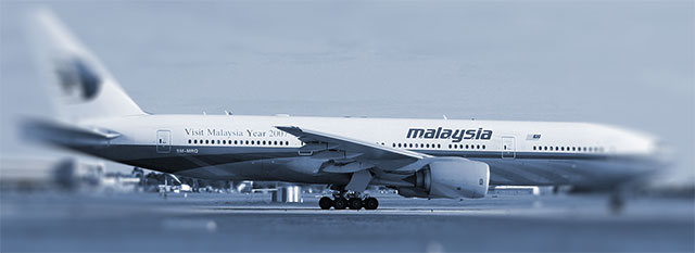 A Malaysia Airlines 777 similar to the one lost in the crash